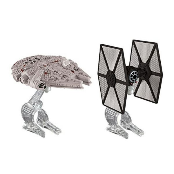 Hot Wheels Star Wars Toy Tie Fighter Vs Ghost Or Millennium Falcon